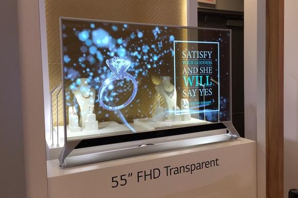 công nghệ TV - TV OLED trong suốt của LG