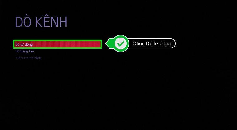 các cách dò kênh smart tv lg chạy hệ điều hành webOS